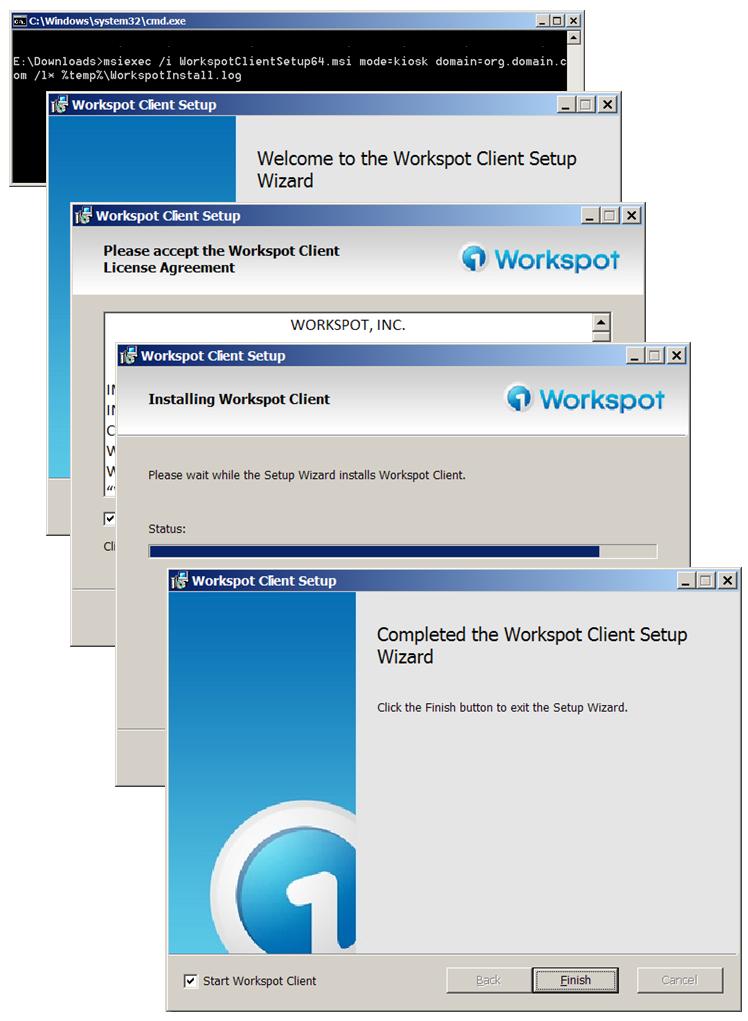 Running Workspot Windows Client in Kiosk Mode – Workspot