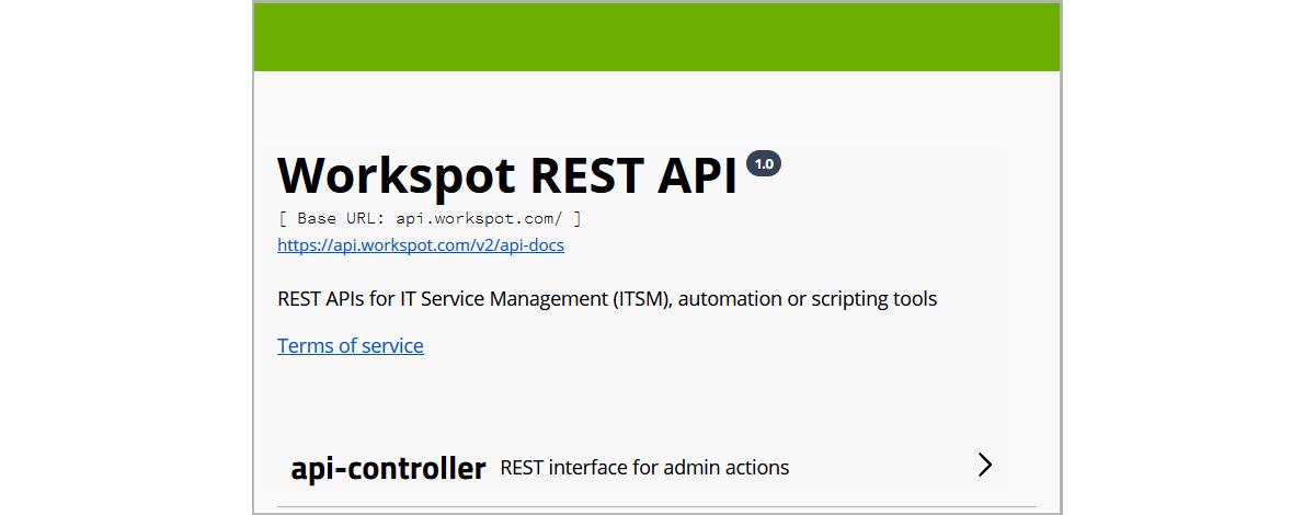 Using the Workspot Control API – Workspot Help Center