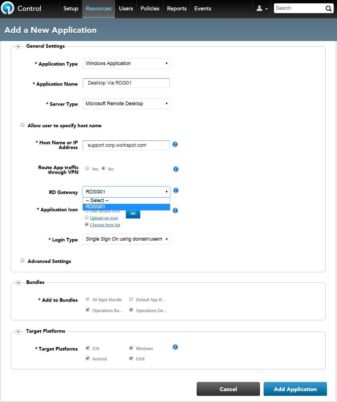 Remote Desktop Gateway (RDG) Configuration and Workspot Integration