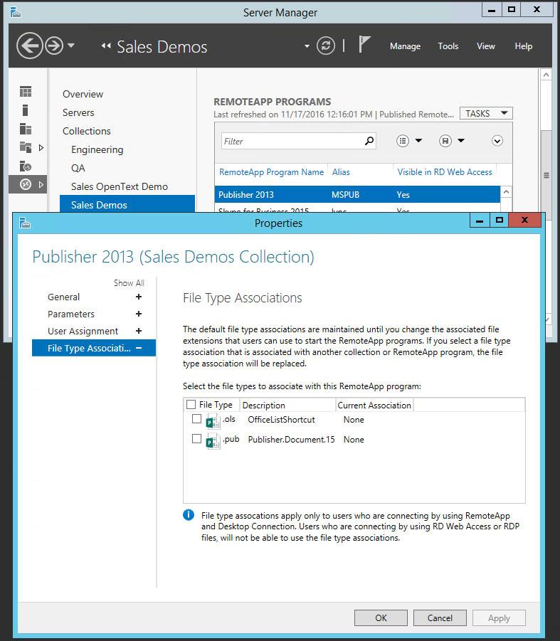 Remote Desktop Services (RDS) 2012 - Associating